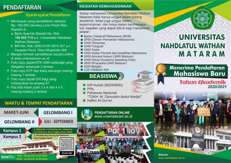PENERIMAAN MAHASISWA BARU T.A. 2020/2021