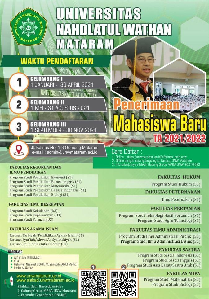 Pendaftaran Mahasiswa Baru UNW 2021/2022